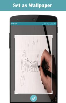 how to draw hand lettering apk screenshot