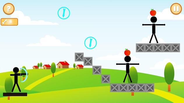 Real StickMan Apple Shooter screenshot 4