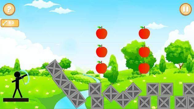 Real StickMan Apple Shooter screenshot 2