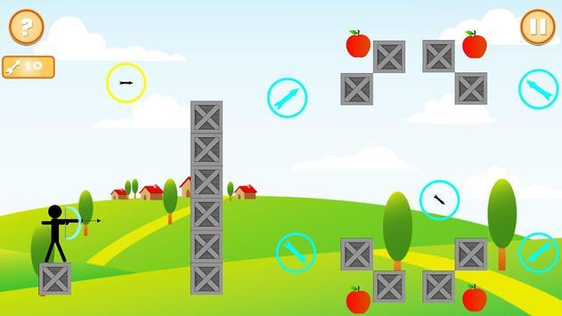 Real StickMan Apple Shooter screenshot 3