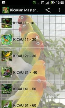 Kicauan Master Burung poster