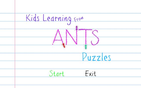 Kids Learn from Ants Puzzles apk screenshot