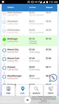 Live train status Enquiry Running indian status apk screenshot