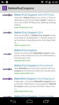 Babies R Us Coupons poster