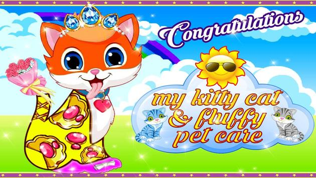My Kitty Cat & Fluffy Pet Care apk screenshot