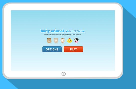 baby animal: Match 3 Game poster