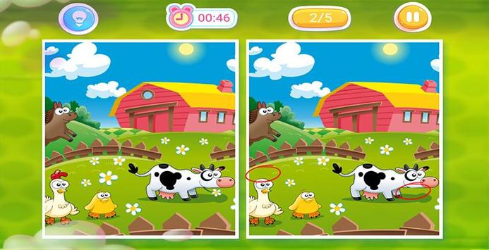 Spot the Difference : Animals Book apk screenshot