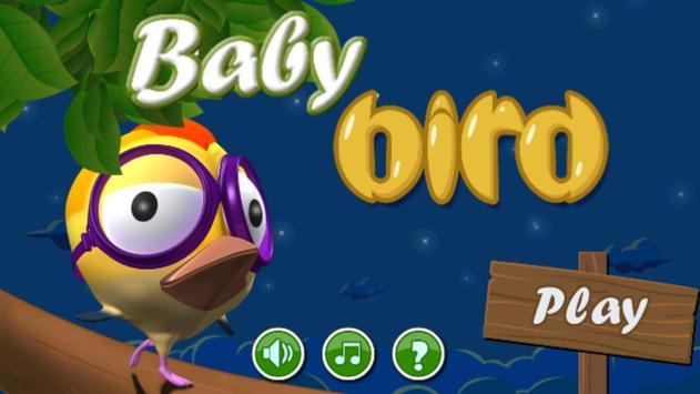 Cute Baby Bird poster