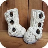 Baby Booties Crochet icon