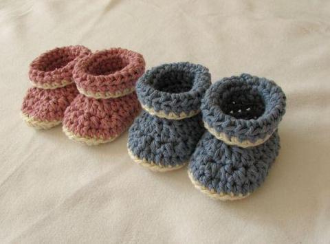 Baby Booties Crochet poster