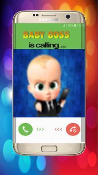 calling baby boss prank poster