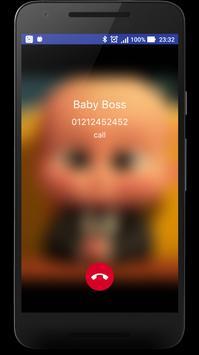 Boss Fake Call Prank - Baby Call Me apk screenshot