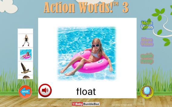 Action Words!™ 3  Flashcards apk screenshot