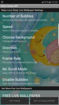 Baby Love Sleep Live Wallpaper apk screenshot
