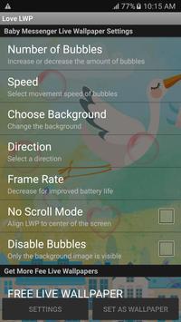 Messenger Baby Live Wallpaper apk screenshot