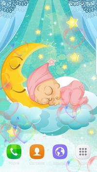 Sleep Cute Baby Live Wallpaper apk screenshot