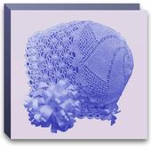 Baby bonnet crochet pattern icon