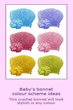 Baby bonnet crochet pattern apk screenshot