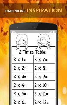 Multiplication Tables Learn poster