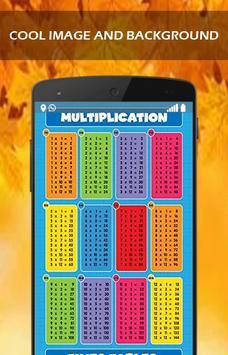 Multiplication Tables Learn apk screenshot