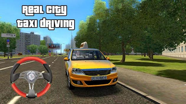 Taxi driving simulator poster