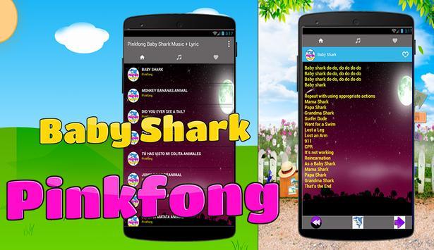 Baby Shark Pinkfong Song + Lyric poster