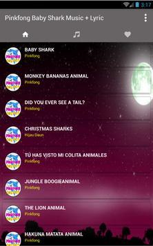 Baby Shark Pinkfong Song + Lyric screenshot 1