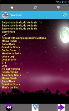 Baby Shark Pinkfong Song + Lyric screenshot 3