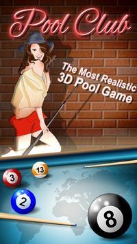 Pool Club 3D-Online Billiards poster