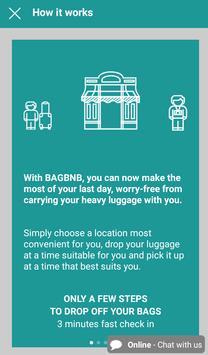 BAGBNB -  LUGGAGE STORAGE NETWORK screenshot 1