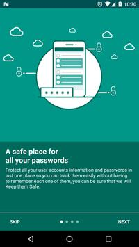 Keep it Safe Password Manager poster