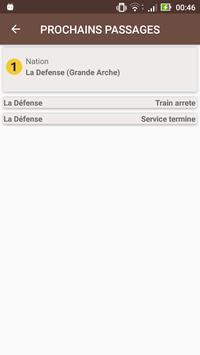 Prochains Trains (RATP) apk screenshot