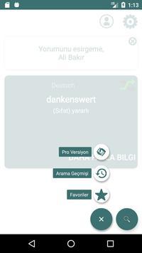 Turkish German Dictionary apk screenshot