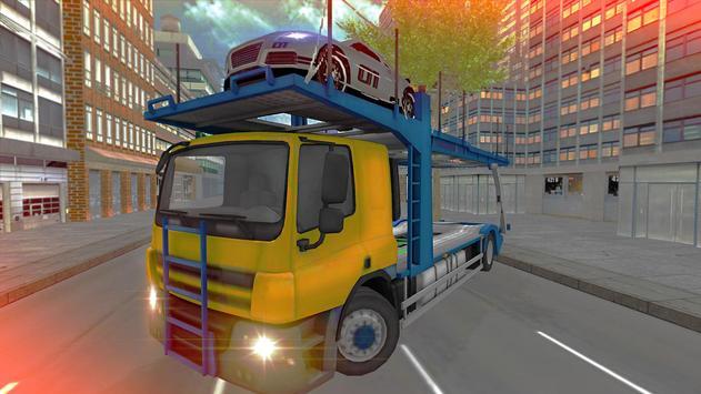 Car Cargo Transporter Truck poster