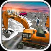 Excavator Snow Plow  Rescue : Bridge Builder 18 icon