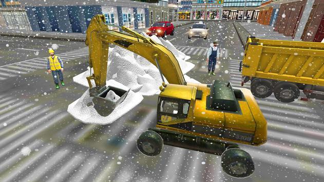 Excavator Snow Plow  Rescue : Bridge Builder 18 apk screenshot