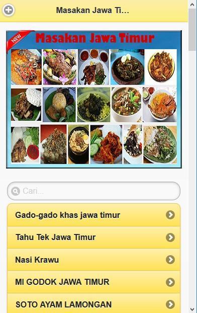 100 Aneka Resep Masakan Jawa Timur For Android Apk Download