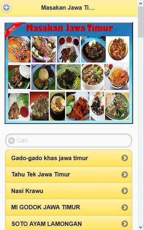 Aneka Resep Masakan Jawa Timur Screenshot