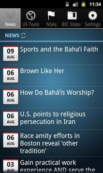 Baha'i News Service US (Bahai) poster