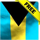 Bahamas flag lwp Free icon