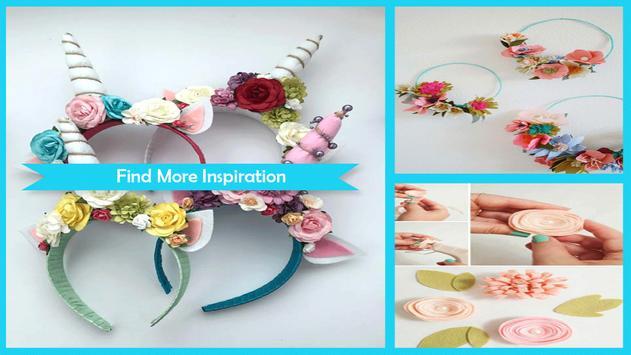 Adorable DIY Flower Headband apk screenshot