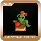 Cute Styrofoam Bookworm Ideas icon
