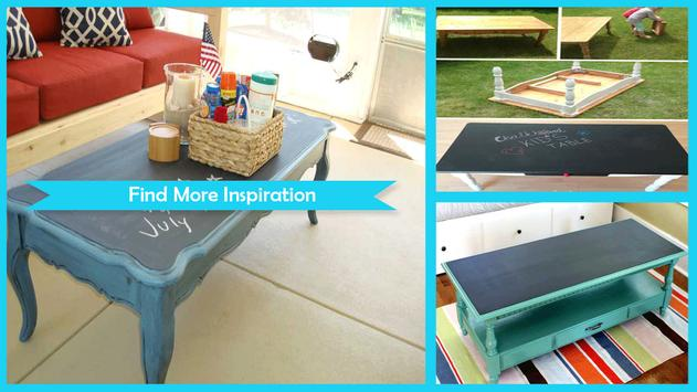Easy Chalkboard Coffee Table Tutorial poster