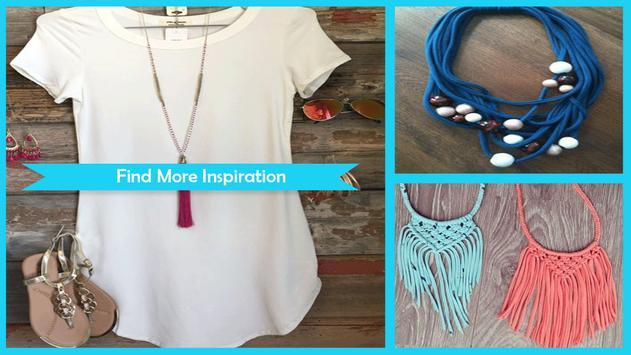 Fabulous T-Shirt Necklace Ideas poster