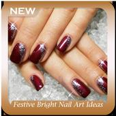 Festive Bright Nail Art Ideas icon