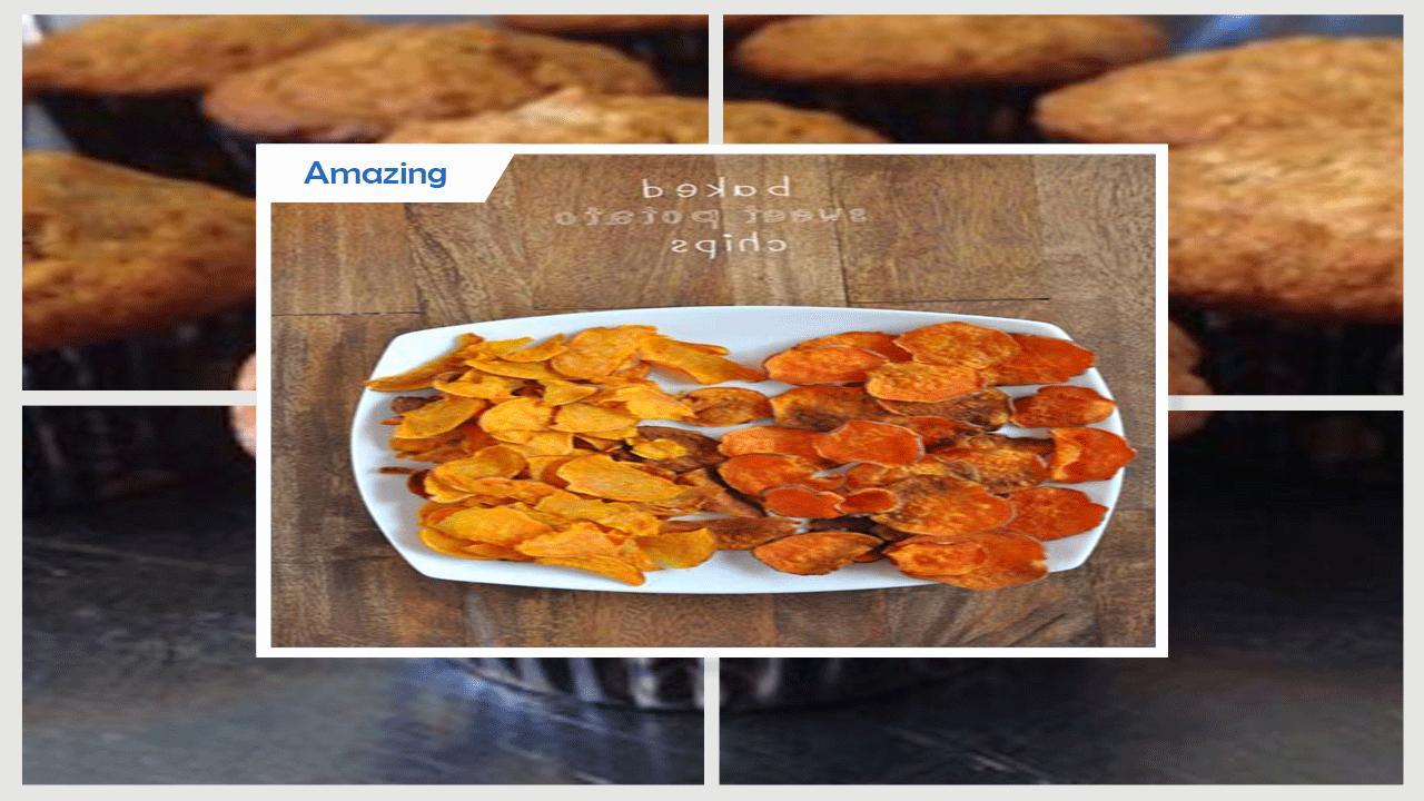 Super Crispy  Baked Banana Chips Recipe poster