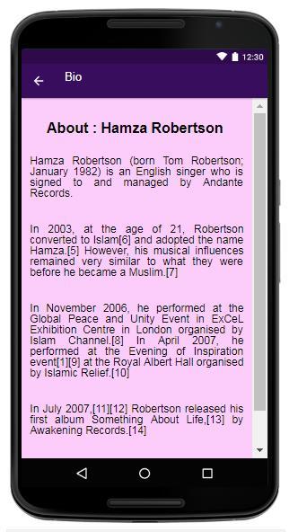 Hamza Robertson Lyrics&Music for Android - APK Download