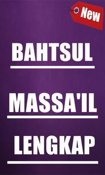 Bahtsul Masaa-il Lengkap poster