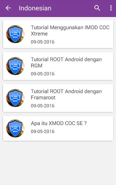 How to use imod coc