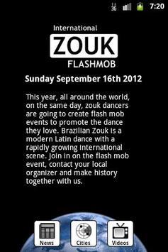 Zouk Flash Mob poster